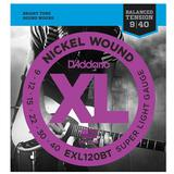 DADDARIO Senar Gitar Nickel Wound Balanced Tension Super Light [EXL-120BT] - Senar Gitar